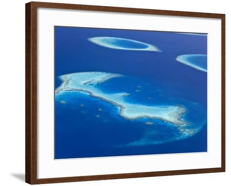 Maldives, Aerial View of Islands and Atolls-Michele Falzone-Framed Art Print