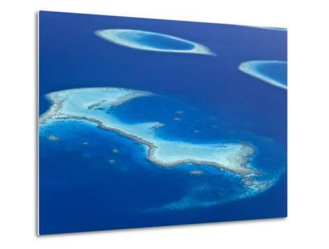 Maldives, Aerial View of Islands and Atolls-Michele Falzone-Metal Print