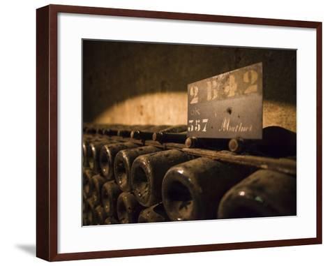 France, Marne, Champagne Ardenne, Reims, Pommery Champagne Winery, Champagne Cellars-Walter Bibikow-Framed Art Print