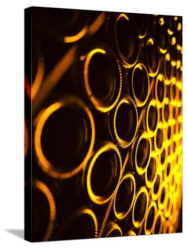 France, Marne, Champagne Region, Epernay, Moet and Chandon Champagne Winery, Champagne Cellars-Walter Bibikow-Stretched Canvas Print