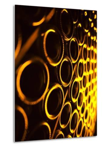 France, Marne, Champagne Region, Epernay, Moet and Chandon Champagne Winery, Champagne Cellars-Walter Bibikow-Metal Print