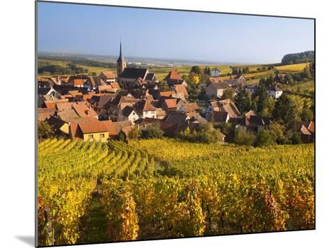 France, Bas-Rhin, Alsace Region, Alasatian Wine Route, Blienschwiller, Town Overview from Vineyards-Walter Bibikow-Mounted Photographic Print