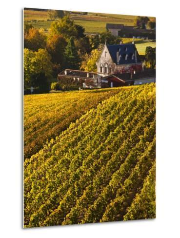France, Aquitaine Region, Gironde Department, St-Emilion, Wine Town, Unesco-Listed Vineyards-Walter Bibikow-Metal Print