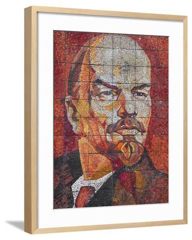 Russia, Black Sea Coast, Sochi, Riviera Park, Revolutionary Mosaic of Vladimir Lenin-Walter Bibikow-Framed Art Print
