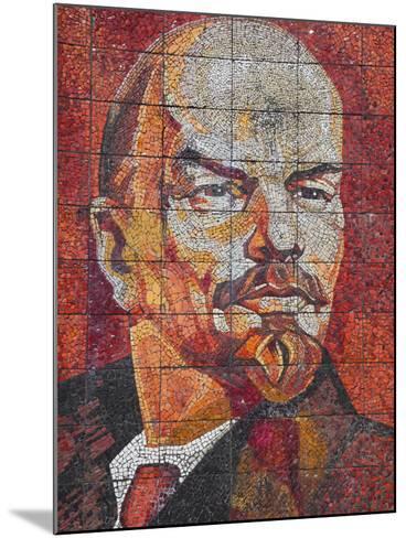Russia, Black Sea Coast, Sochi, Riviera Park, Revolutionary Mosaic of Vladimir Lenin-Walter Bibikow-Mounted Photographic Print