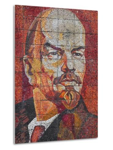 Russia, Black Sea Coast, Sochi, Riviera Park, Revolutionary Mosaic of Vladimir Lenin-Walter Bibikow-Metal Print