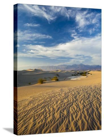USA, California, Death Valley National Park, Mesquite Flat Sand Dunes-Walter Bibikow-Stretched Canvas Print