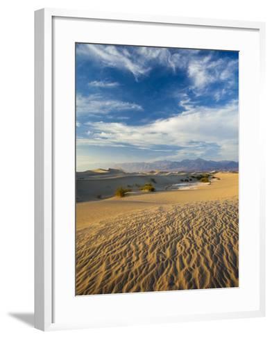 USA, California, Death Valley National Park, Mesquite Flat Sand Dunes-Walter Bibikow-Framed Art Print