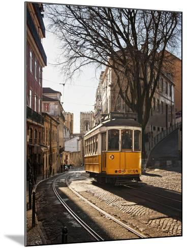 A Tramway in Alfama District, Lisbon-Mauricio Abreu-Mounted Photographic Print