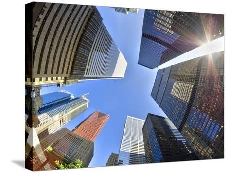 Canada, Ontario, Toronto, Downtown Financial District, Fisheye View-Alan Copson-Stretched Canvas Print