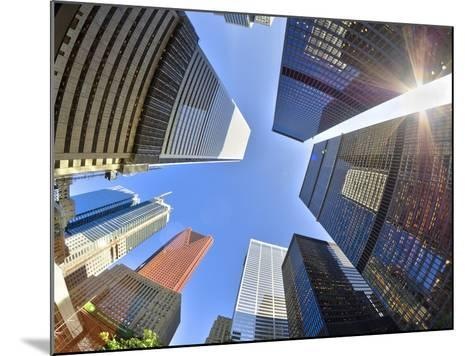 Canada, Ontario, Toronto, Downtown Financial District, Fisheye View-Alan Copson-Mounted Photographic Print