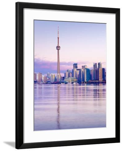 Canada, Ontario, Toronto, Cn Tower and Downtown Skyline-Alan Copson-Framed Art Print