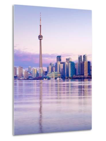 Canada, Ontario, Toronto, Cn Tower and Downtown Skyline-Alan Copson-Metal Print