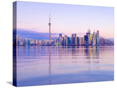 Canada, Ontario, Toronto, Cn Tower and Downtown Skyline-Alan Copson-Stretched Canvas Print