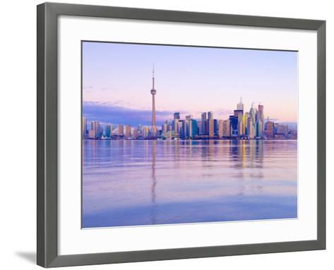 Canada, Ontario, Toronto, Cn Tower and Downtown Skyline-Alan Copson-Framed Art Print