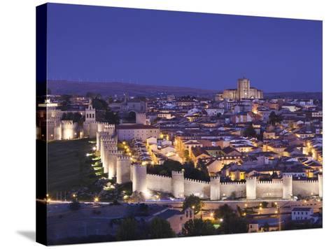 Spain, Castilla Y Leon Region, Avila Province, Avila, Las Murallas, Town Walls, Elevated View-Walter Bibikow-Stretched Canvas Print