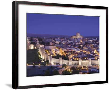 Spain, Castilla Y Leon Region, Avila Province, Avila, Las Murallas, Town Walls, Elevated View-Walter Bibikow-Framed Art Print