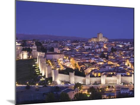 Spain, Castilla Y Leon Region, Avila Province, Avila, Las Murallas, Town Walls, Elevated View-Walter Bibikow-Mounted Photographic Print