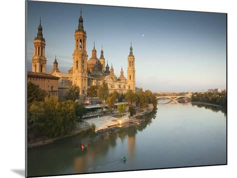 Spain, Aragon Region, Zaragoza Province, Zaragoza, Basilica De Nuestra Senora De Pilar on the Ebro -Walter Bibikow-Mounted Photographic Print