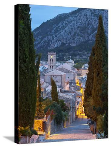 Steps of the Way of the Cross and Nostra Senyora Dels Angels Church, Pollenca, Mallorca, Balearic I-Doug Pearson-Stretched Canvas Print