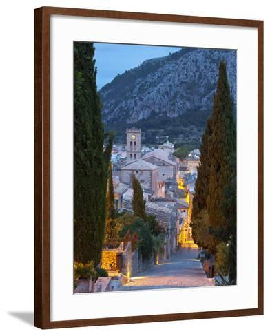 Steps of the Way of the Cross and Nostra Senyora Dels Angels Church, Pollenca, Mallorca, Balearic I-Doug Pearson-Framed Art Print