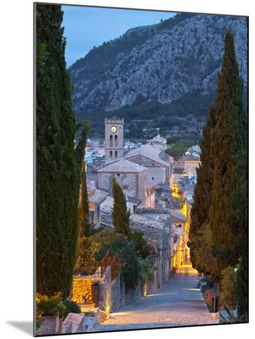 Steps of the Way of the Cross and Nostra Senyora Dels Angels Church, Pollenca, Mallorca, Balearic I-Doug Pearson-Mounted Photographic Print