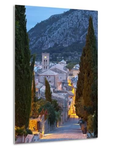 Steps of the Way of the Cross and Nostra Senyora Dels Angels Church, Pollenca, Mallorca, Balearic I-Doug Pearson-Metal Print
