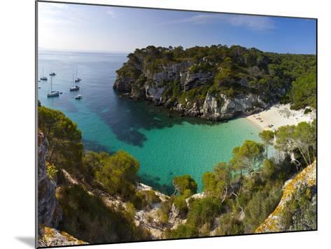 Elevated View over the Beach of Cala Macarelleta, Menorca, Balearic Islands, Spain-Doug Pearson-Mounted Photographic Print