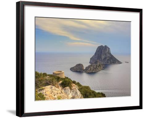Spain, Balearic Islands, Ibiza, Es Vedra Rocky Island-Michele Falzone-Framed Art Print