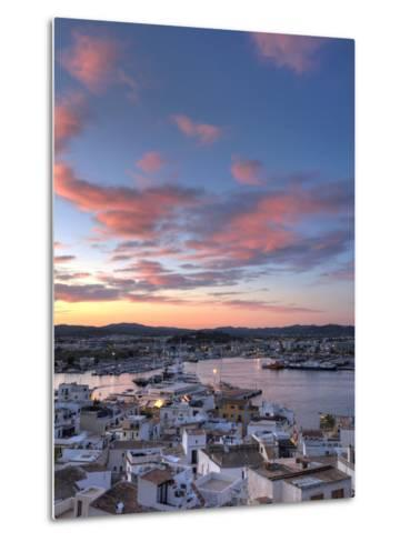 Spain, Balearic Islands, Ibiza, View of Ibiza Old Town (UNESCO Site), and Dalt Vila-Michele Falzone-Metal Print
