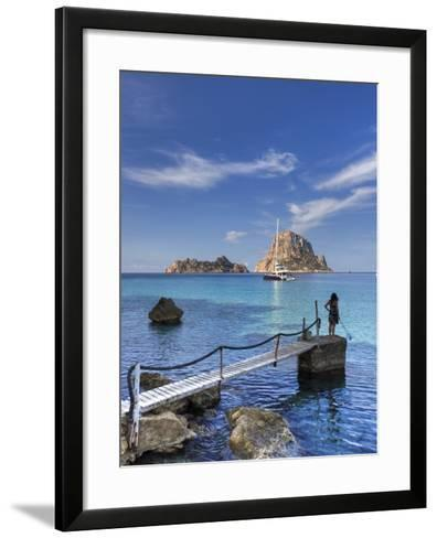Spain, Balearic Islands, Ibiza, Cala D'Hort Beach-Michele Falzone-Framed Art Print