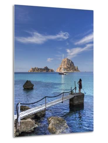 Spain, Balearic Islands, Ibiza, Cala D'Hort Beach-Michele Falzone-Metal Print