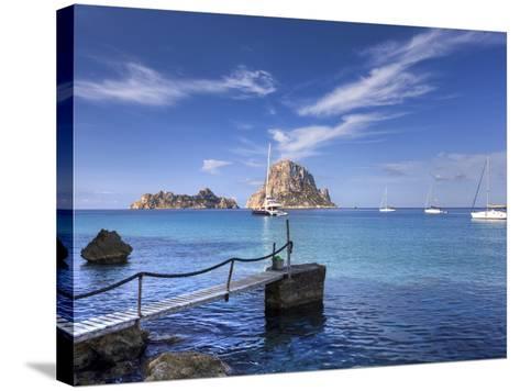 Spain, Balearic Islands, Ibiza, Cala D'Hort Beach-Michele Falzone-Stretched Canvas Print
