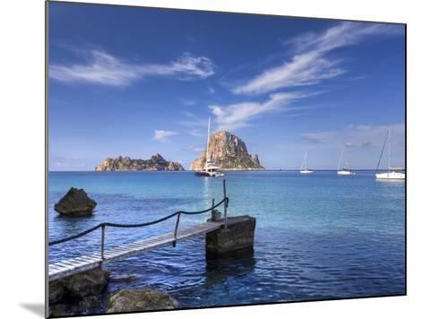 Spain, Balearic Islands, Ibiza, Cala D'Hort Beach-Michele Falzone-Mounted Photographic Print