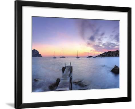 Spain, Balearic Islands, Ibiza, Cala D'Hort Beach and Es Vedra Island-Michele Falzone-Framed Art Print