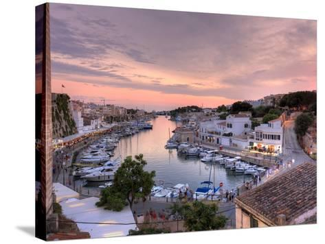 Spain, Balearic Islands, Menorca, Ciutadella, Historic Old Harbour and Old City Centre-Michele Falzone-Stretched Canvas Print