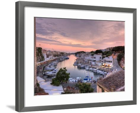 Spain, Balearic Islands, Menorca, Ciutadella, Historic Old Harbour and Old City Centre-Michele Falzone-Framed Art Print