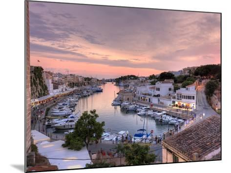 Spain, Balearic Islands, Menorca, Ciutadella, Historic Old Harbour and Old City Centre-Michele Falzone-Mounted Photographic Print