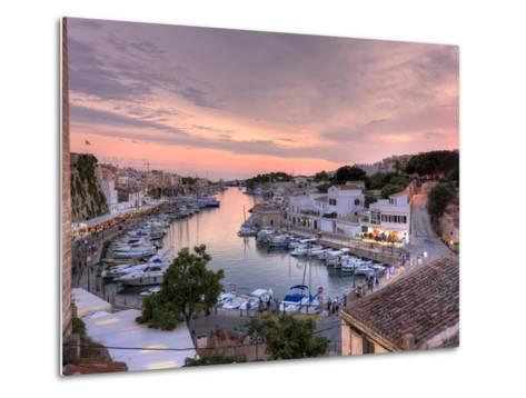 Spain, Balearic Islands, Menorca, Ciutadella, Historic Old Harbour and Old City Centre-Michele Falzone-Metal Print