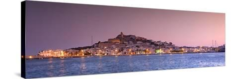 Spain, Balearic Islands, Ibiza, View of Ibiza Old Town (UNESCO Site), and Dalt Vila-Michele Falzone-Stretched Canvas Print