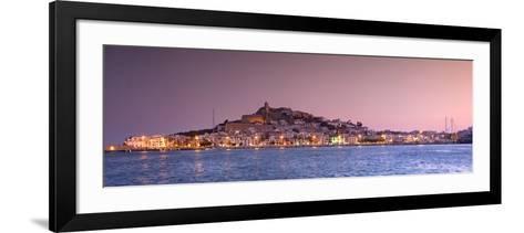 Spain, Balearic Islands, Ibiza, View of Ibiza Old Town (UNESCO Site), and Dalt Vila-Michele Falzone-Framed Art Print