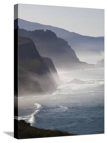Spain, Basque Country Region, Vizcaya Province, Cabo Machichaco Cape, Seascape, Basque Coast-Walter Bibikow-Stretched Canvas Print