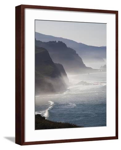 Spain, Basque Country Region, Vizcaya Province, Cabo Machichaco Cape, Seascape, Basque Coast-Walter Bibikow-Framed Art Print