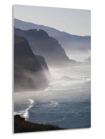 Spain, Basque Country Region, Vizcaya Province, Cabo Machichaco Cape, Seascape, Basque Coast-Walter Bibikow-Metal Print