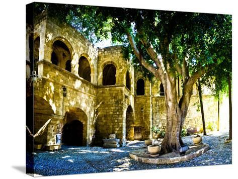 Medieval Architecture, Rhodes Town, Rhodes, Greece-Doug Pearson-Stretched Canvas Print