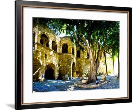 Medieval Architecture, Rhodes Town, Rhodes, Greece-Doug Pearson-Framed Art Print