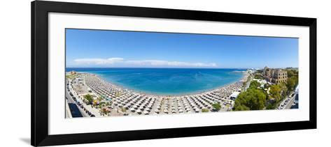 Rhodes Casino and Town Beach, Rhodes Town, Rhodes, Greece-Doug Pearson-Framed Art Print