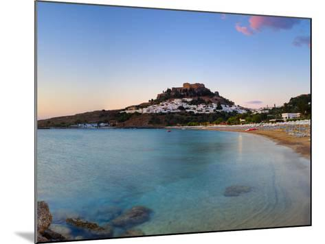 Lindos Acropolis and Village, Lindos, Rhodes, Greece-Doug Pearson-Mounted Photographic Print