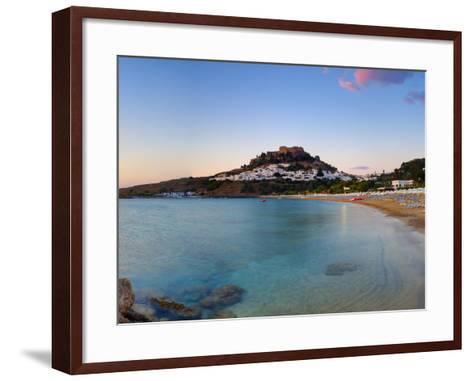 Lindos Acropolis and Village, Lindos, Rhodes, Greece-Doug Pearson-Framed Art Print