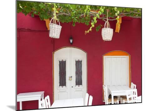 Front of Cafe, Taverna, Symi Island, Dodecanese Islands, Greece-Peter Adams-Mounted Photographic Print